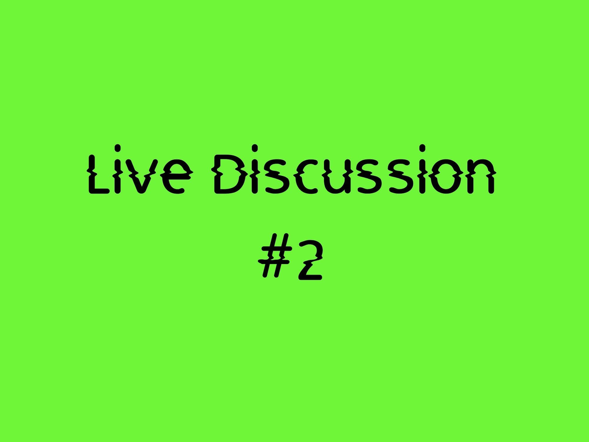 Live Discussion #2 - DIY Medway